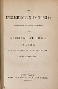 Title page, The Englishwoman in Russia
